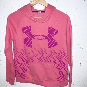 Under Armour Logo Hoodie Pink Kids